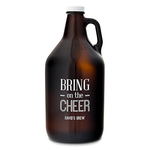 personalized beer growler bring on the cheer groomsmen gift