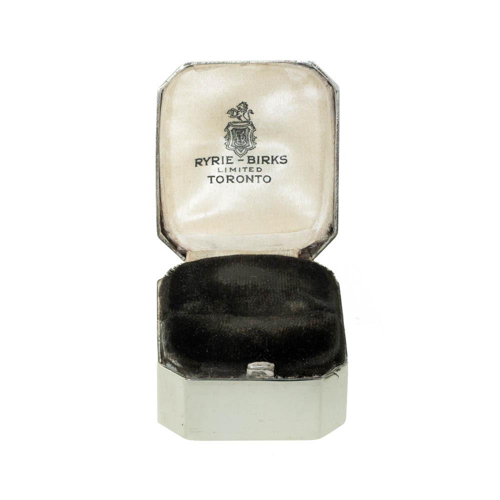 Vintage Sterling Silver Ring Box Cushion Shape, Engagement Presentation
