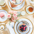 French Afternoon Tea, Sugar et Cie with Vintage Mother of Pearl Dessert Silverware