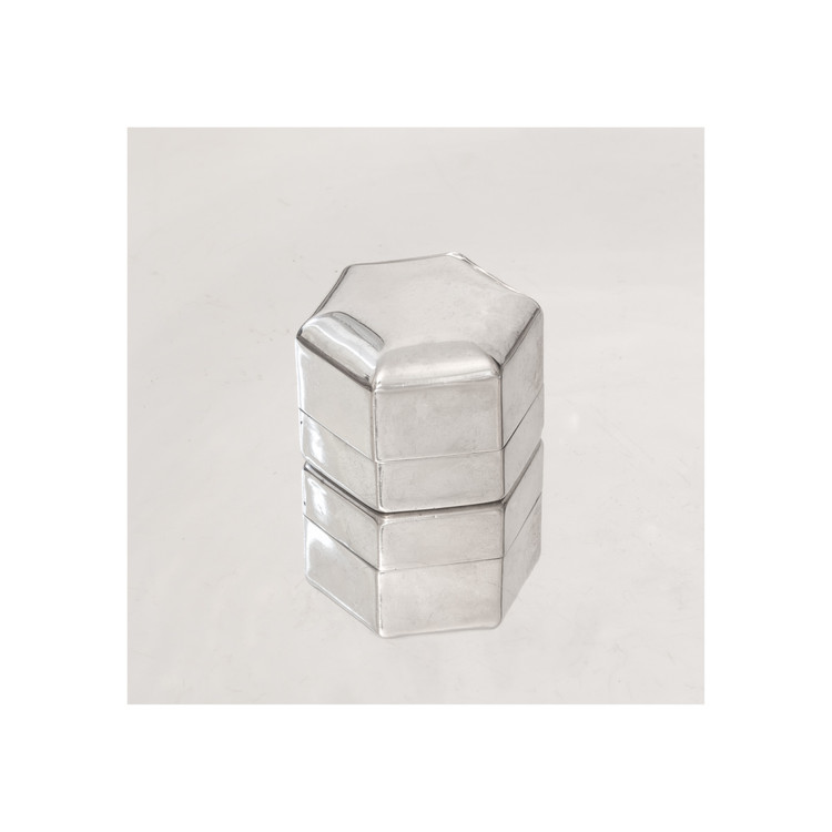 Vintage Sterling Silver Ring Box by Ellis Bros.