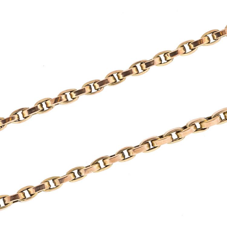 Antique Victorian Gold Chain, Belcher Chain