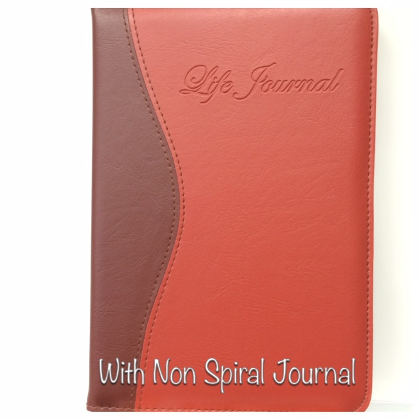Red Leatherette Cover with Non Spiral Journal