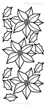 Poinsettia Outline Sticker