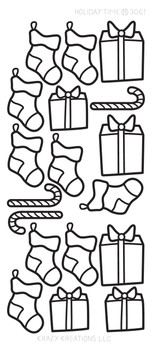 Holiday Time Outline Sticker