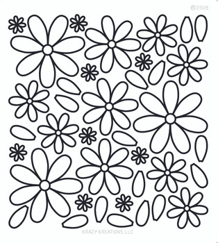 Layered Flowers 2 Outline Sticker