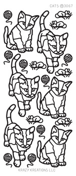 Cats Outline Sticker