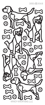 Dogs Outline Sticker