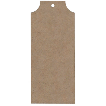Chipboard Tag Set 1, Natural, 5pc