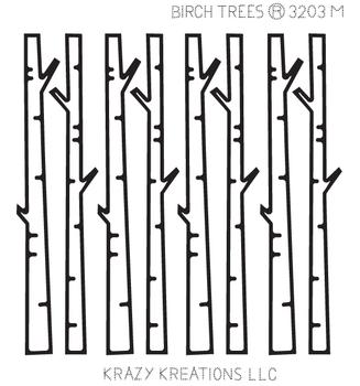 Birch Trees Outline Sticker - Mini