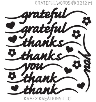 Grateful Words Sticker - Mini