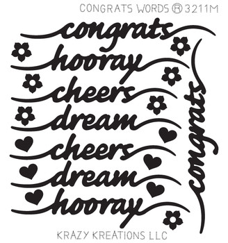 Congrats Words Sticker - Mini