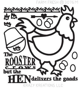 Farm Fresh Outline Sticker - Mini