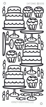 Eat Cake Outline Sticker