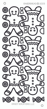 Gingerbread Outline Sticker