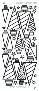 Holiday Trees Outline Sticker