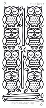 Owls Outline Sticker
