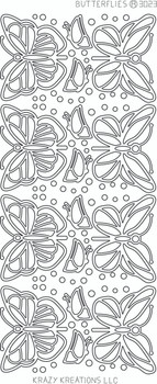 Butterflies Outline Sticker