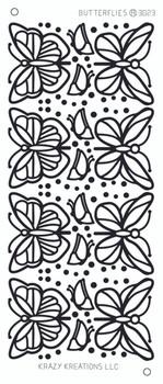 Butterflies Outline Sticker