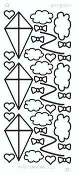 Kite Outline Sticker