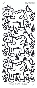 Cow Outline Sticker