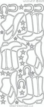 Wild West Outline Sticker