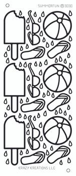 Summer Fun Outline Sticker