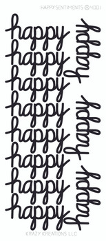 Happy Sentiment Sticker