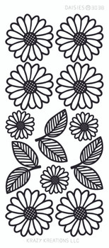 Daisies Outline Sticker