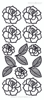 Roses Outline Sticker
