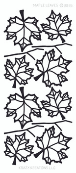 Maple Leaves Outline Sticker