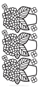 Hydrangea Outline Sticker