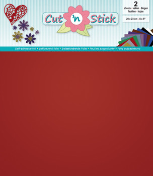 Cut 'n Stick Adhesive Foil, Mirror Red