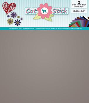 Cut 'n Stick Adhesive Foil, Mirror Silver