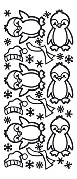 Penguins Outline Sticker