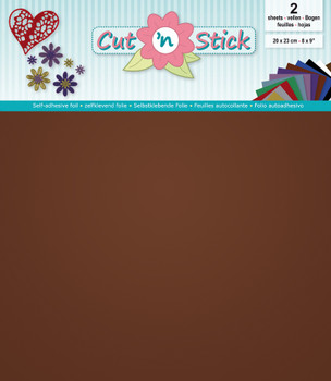Cut 'n Stick Adhesive Foil, Mirror Copper