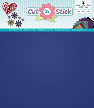 Cut 'n Stick Adhesive Foil, Mirror Blue