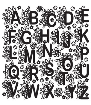 ABC Doodles Outline Sticker