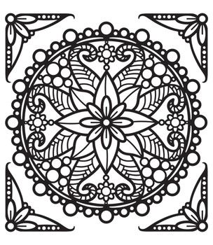Mandala 3 Outline Sticker