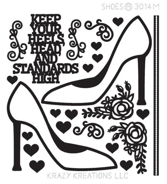 Shoes Outline Sticker - Mini