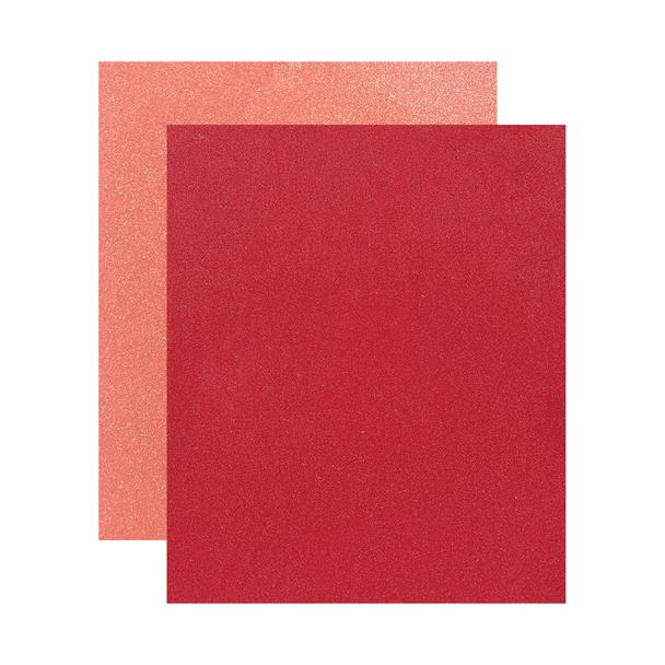 "Micro Fine Glitter Paper, Red/Lt. Copper,  5"" x 6"", 2 Sheets"
