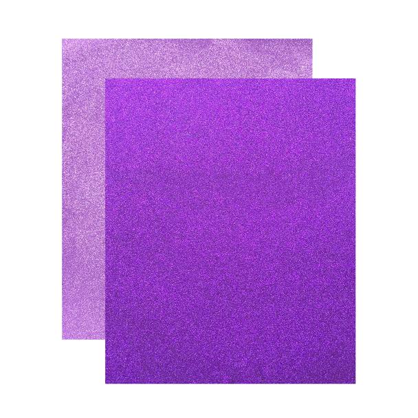 """Micro Fine Glitter Paper, Purple/Lavender,  5"""" x 6"""", 2 Sheets"""