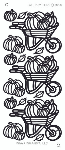 Fall Pumpkins Outline Sticker