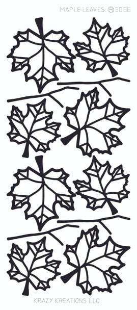 Maple Leaves Outline Sticker