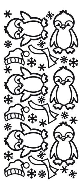 Penguins Outline Sticker