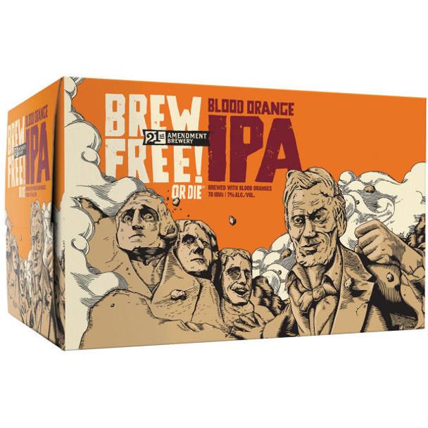 21st Amendment Brew Free or Die! Blood Orange IPA 12oz 6 Pack Cans