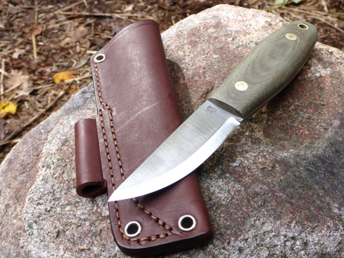 Lagom Bush Knife - Green Micarta Handle