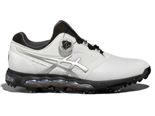 Asics Gel Ace Pro X BOA Golf Shoes - White/Black/Silver