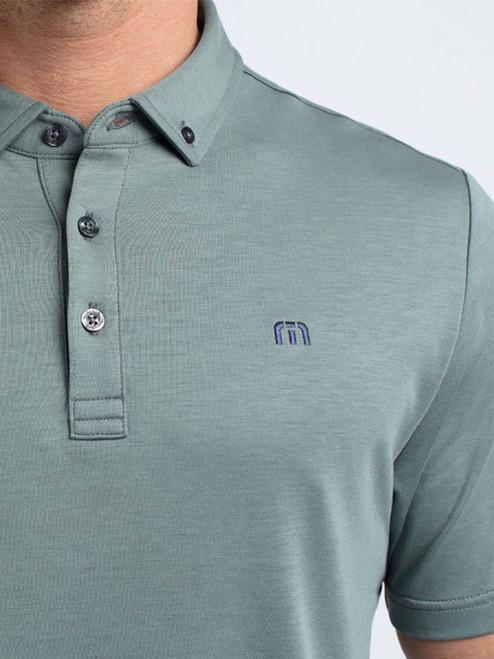 3a219f77fefd7 Travis Mathew Only Go Left Polo - Balsam Blue Nights