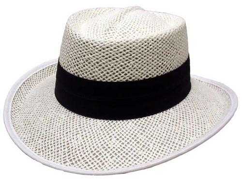 5f765982 Mizuno Large Brim Sun Hat - Chalk/Black. $49.99. $39.99. Avenel Openweave  Downunder Panama Hat - White