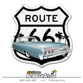 1962 Impala - Route 66 Decorative Metal Sign